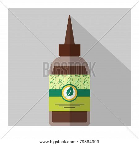 Vector Flat Bottle