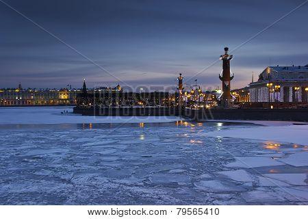Vasilievsky island, St. Petersburg, Russia