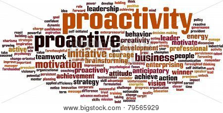 Proactivity Word Cloud