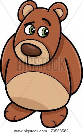 Shy Bear Animal Cartoon Illustration