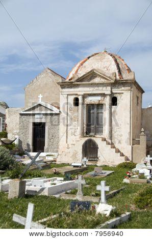 Mausoleum Crypts Marine Cemetery Old Town Bonifacio Corsica