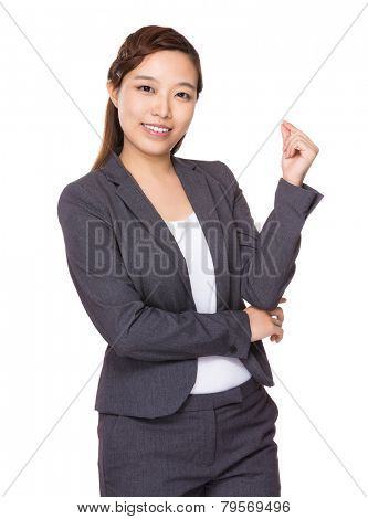 Asian Businesswoman with hand snapping