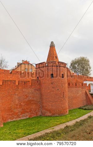 Defensive Walls (circa Xvi C.) Of Warsaw City, Poland
