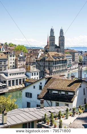 Zurich Urban View. Zurich, Switzerland, Europe.
