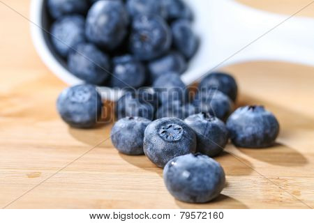 Blueberry  On A Spoon Concept For Healthy Eating And Nutrition Selective Focus