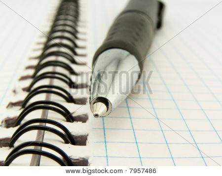Ball-point Pen And Notebook