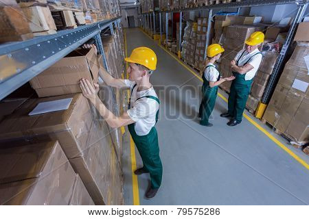 Plant Workers In Warehouse