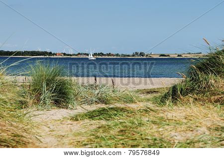 Dune Beach Sailing Ship Sea Fehmarn