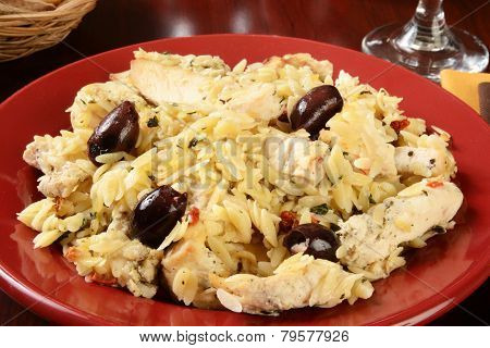 Greek Style Chicken And Orzo