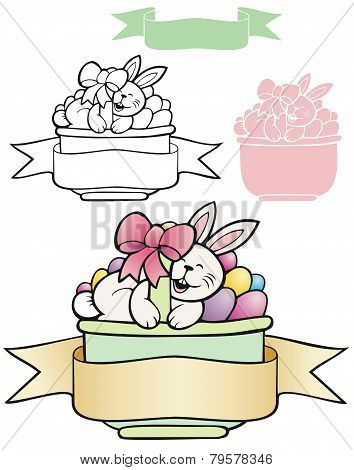 Easter banner basket