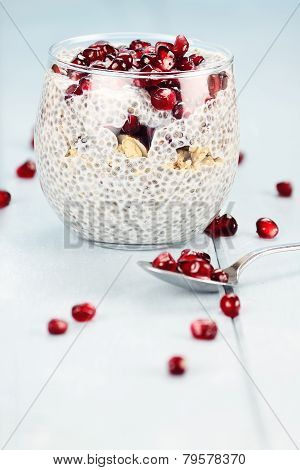Delicious Chia Seed And Pomegranate Parfait