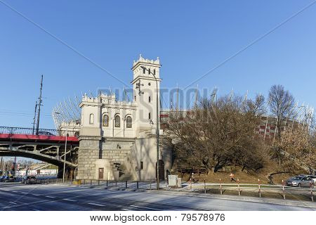 Tower And Stairs To The Poniatowski Bridge