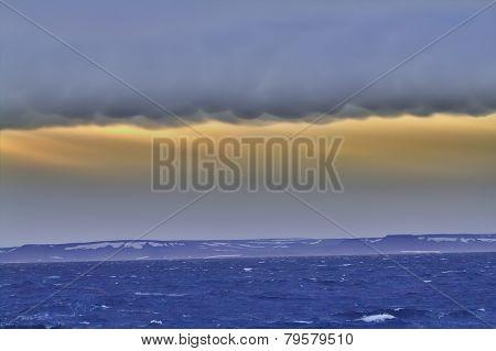 Arctic Storm. Area Novaya Zemlya