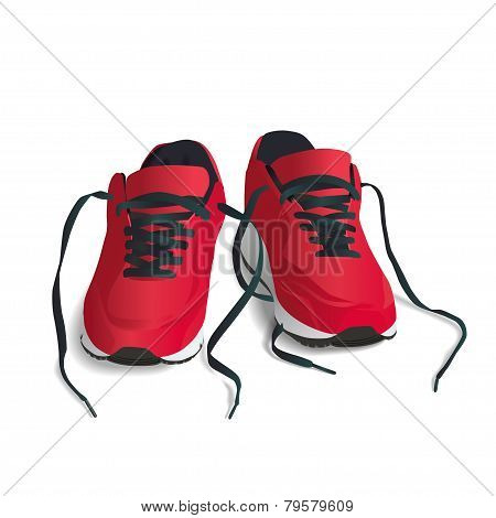 Red, Sports Shoes
