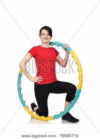 Girl With Color Hula Hoop