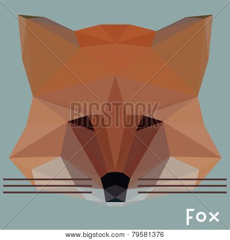 Polygonal Geometric Abstract Vector Fox