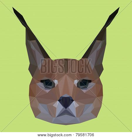 Abstract Geometric Polygonal Lynx Background