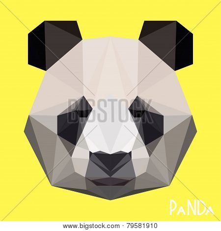 Polygonal Geometric Triangle Abstract Panda Background