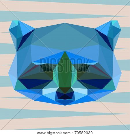 Abstract Geometric Polygonal Raccoon