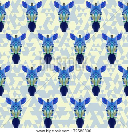 Abstract Geometric Zebra Seamless Pattern Background