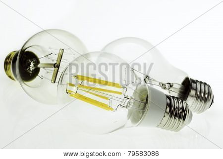 Eco E27 Led Bulbs, Classic Incandescent Tungsten And Retro Edison