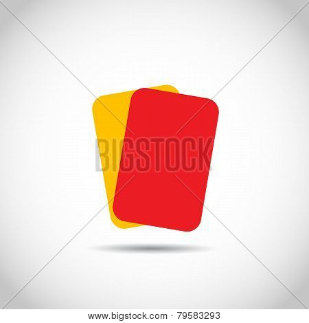 Soccer football red yellow cards