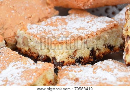 Close up of homemade cookie