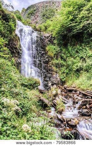 Waterfal Into The Forest