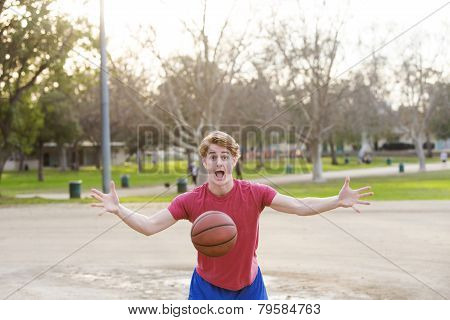 Young Man With Basketball