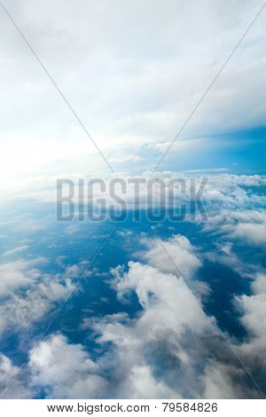 Cloudy Skies Aerial View