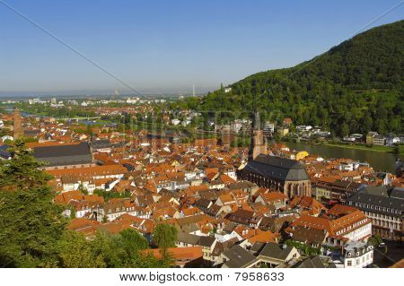 Heidelberg - Old Town (altstadt), View From Above