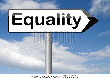 equality for man and women and solidarity equal rights and opportunities no discrimination