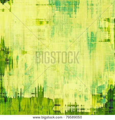 Vintage old texture with space for text or image, distressed grunge background. With different color patterns: green; cyan; yellow (beige)