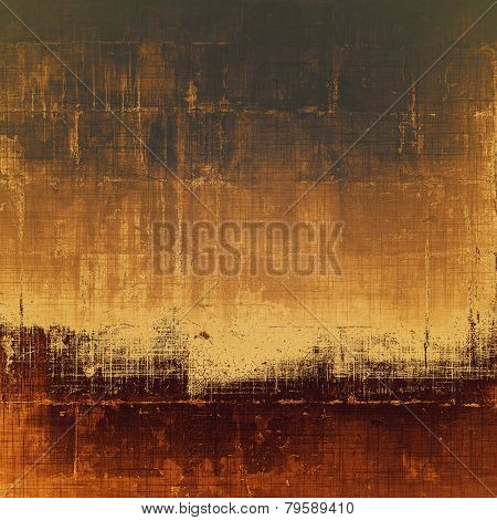 Art grunge vintage textured background. With different color patterns: brown; black; gray; yellow (beige)