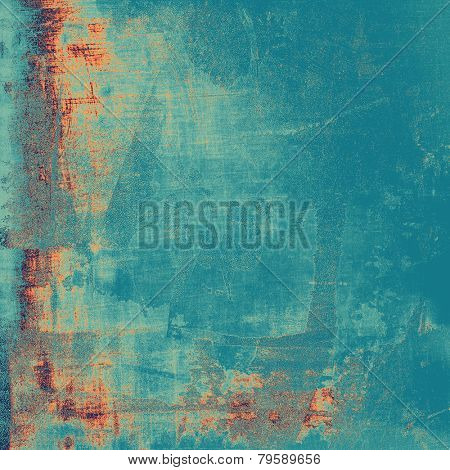 Old texture with delicate abstract pattern as grunge background. With different color patterns: cyan; blue; yellow (beige)
