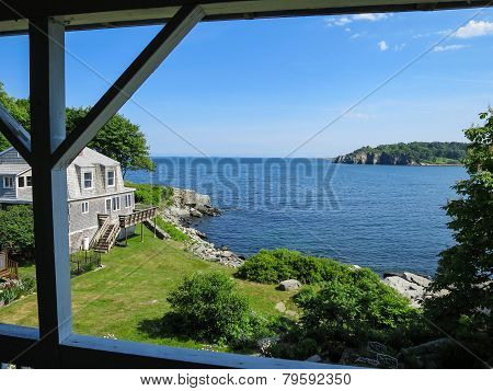 Maine Photo Landscape Of A Country House And Ocean