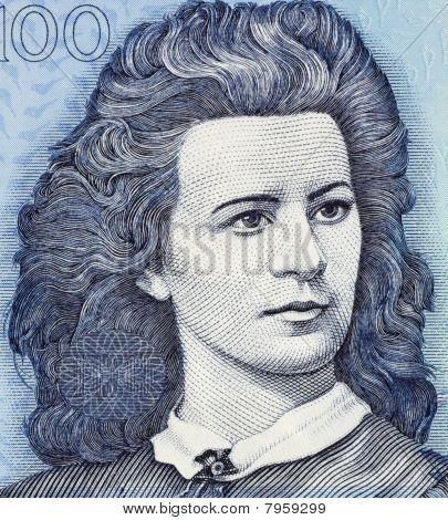 Estonia - Circa 1999: Lydia Koidula