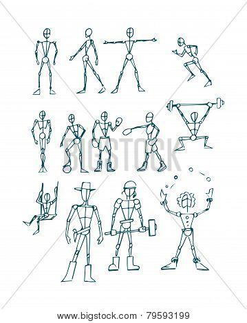 Human figure men c