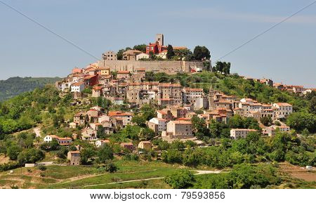 Medieval town Motovun on a top of a hill, Croatia