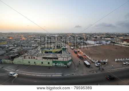 Panoramic View Of Accra, Ghana