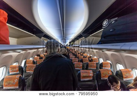 Inside Of A Boeing 737-800