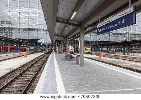 Main Train Station In Frankfurt