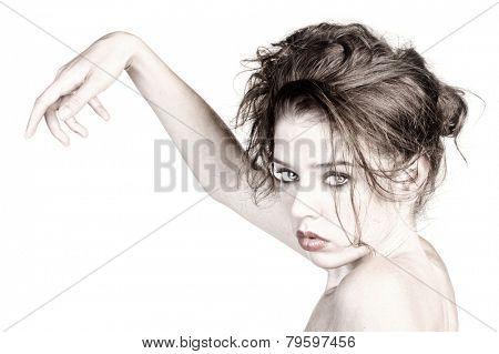 Beautiful Image of Glamour Model Isolated on White