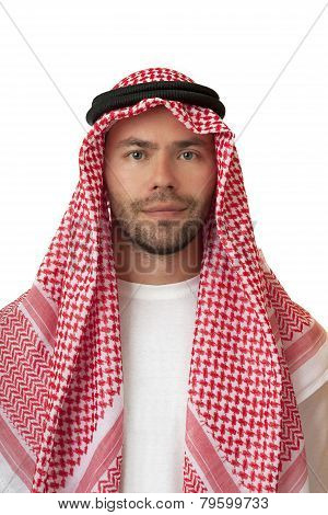 Man in Arabic headdress.