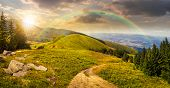 picture of composition  - composite mountain landscape - JPG