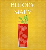 picture of bloody mary  - Drinks List Bloody Mary with Golden Background EPS10 - JPG