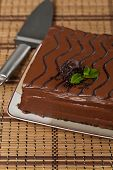image of chocolate fudge  - A chocolate fudge layer cake - JPG