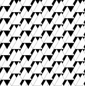 image of trapezoid  - Black and white geometric seamless pattern with triangle and trapezoid abstract background vector EPS10 - JPG