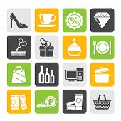 pic of mall  - Silhouette Shopping and mall icons  - JPG