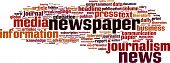 picture of newspaper  - Newspaper Word Cloud Concept - JPG